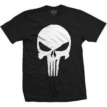 T-Shirt Unisex Marvel Comics. Punisher Jagged Skull