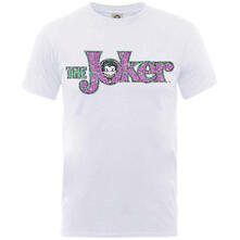 T-Shirt Unisex Dc Comics. Joker Crackle Logo