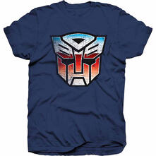 T-Shirt Unisex Hasbro. Transformers Autobot Shield Distress