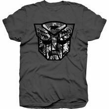 T-Shirt Unisex Hasbro. Transformers Autobot Shield Black/White