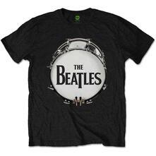 T-Shirt Unisex Original Drum Skin Black Beatles