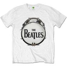T-Shirt Unisex Original Drum Skin White Beatles