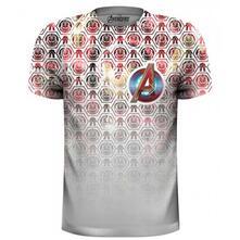 T-Shirt Unisex Marvel Comics. Avengers Icons Pattern Pocket Logo
