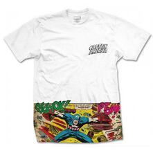 T-Shirt Unisex Marvel Comics. Captain America Comic Strip Pocket