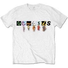 T-Shirt Unisex Tg. L Genesis. Characters Logo