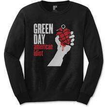T-Shirt manica lunga unisex Green Day. American Idiot