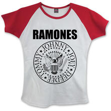 T-Shirt Donna Ramones. Presidential Seal White,Red
