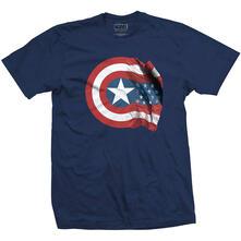 T-Shirt Unisex Marvel Comics. Captain America American Shield Blue
