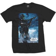 T-Shirt Unisex Star Wars. Rogue One Death Trooper Black