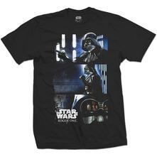 T-Shirt Unisex Tg. S Star Wars. Rogue One Darth Triptych Black