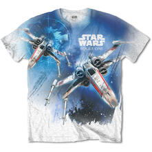 T-Shirt Unisex Tg. S Star Wars. Rogue One X-Wing With Sublimation Printing