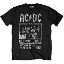 T-Shirt Unisex AC/DC. Highway To Hell World Tour 1979/1980 Special Edition Black