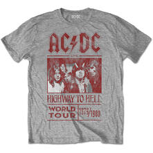 T-Shirt Unisex AC/DC. Highway To Hell World Tour 1979/1980 Special Edition Grey