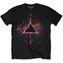 T-Shirt Unisex Pink Floyd. Dark Side Of The Moon Pink Splatter Special Edition Black