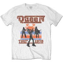 T-Shirt Unisex Queen. 1976 Tour Silhouettes White