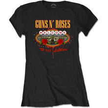 T-Shirt Donna Tg. L Guns N' Roses. Welcome To The Jungle Black