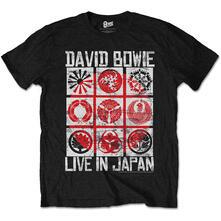 T-Shirt Unisex David Bowie. Live In Japan Balck
