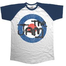 T-Shirt Unisex Tg. XL Jam. Raglan Target Logo Distressed