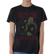 T-Shirt unisex Motley Crue. Vintage World Tour Devil