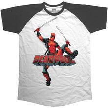 T-Shirt Unisex Marvel Comics. Raglan Baseball Logo Jump