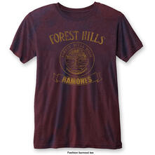 T-Shirt Unisex Tg. M Ramones. Forest Hills Blue Red