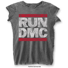 T-Shirt Donna Tg. XS Run Dmc. Dmc Logo Grey