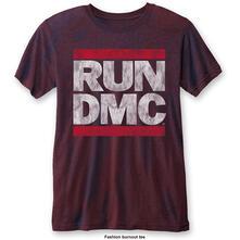T-Shirt Unisex Tg. L Run Dmc. Dmc Logo Blue Red