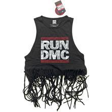 Canotta Donna Tg. XL Run Dmc. Logo Vintage With Tassels