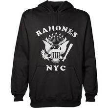 Felpa con Cappuccio Unisex Ramones. Retro Eagle New York City