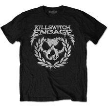 T-Shirt Unisex Tg. M Killswitch Engage. Skull Spraypaint