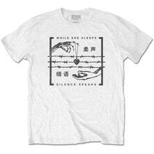 T-Shirt Unisex Tg. M While She Sleeps. Silence Speaks