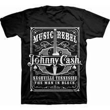 T-Shirt Unisex Johnny Cash Men's Tee: Music Rebel