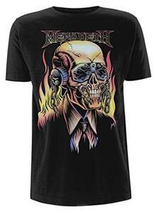 T-Shirt Unisex Megadeth. Flaming Vic