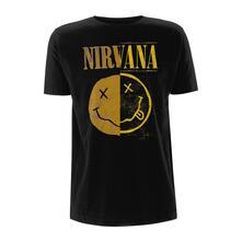 T-Shirt Unisex Tg. L Nirvana. Spliced Smiley