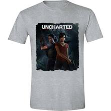T-Shirt Unisex Tg. M Uncharted. The Lost Legacy Cover. Heather Grey