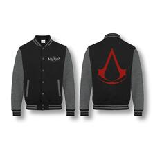 Giacca College Tg. XL Assassin'S Creed. Red Logo Black/Anthracite Melange