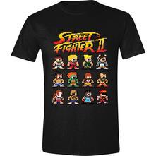 T-Shirt Unisex Street Fighter II. Characters Black. Taglia M