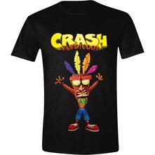 T-Shirt Unisex Tg. S Crash Bandicoot. Aku Aku Black