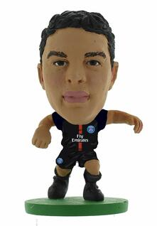 Soccerstarz. Paris St Germain Thiago Silva. Home Kit 2018