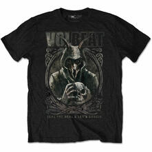 T-Shirt Unisex Tg. M Volbeat. Goat With Skull