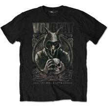 T-Shirt Unisex Tg. XL Volbeat. Goat With Skull