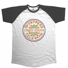 Unisex Tg. L Beatles. Raglan Baseball Sgt Pepper Drum