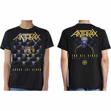 T-Shirt Unisex Tg. Xl With Back Print Anthrax. Among The Kings