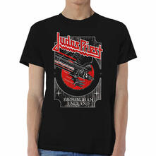 T-Shirt Unisex Tg. M Judas Priest. Silver And Red Vengeance