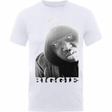 T-Shirt Unisex Tg. XL Notorious Big. Biggie Smalls. B&W Portrait