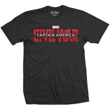 Marvel Comics Men'S Tee: Captain America Civil War Movie Logo (Medium)