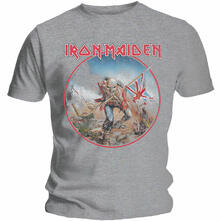 T-Shirt Unisex Tg. S Iron Maiden. Trooper Vintage Circle