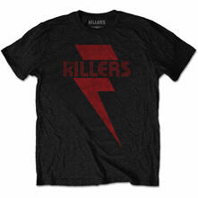 Killers. Red Bolt T-Shirt Unisex Tg. M