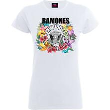 T-Shirt Donna Tg. L Ramones. Circle Flowers
