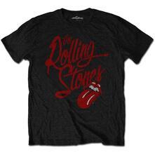 T-Shirt Unisex Tg. S. Rolling Stones Script Logo Soft-Hand Inks